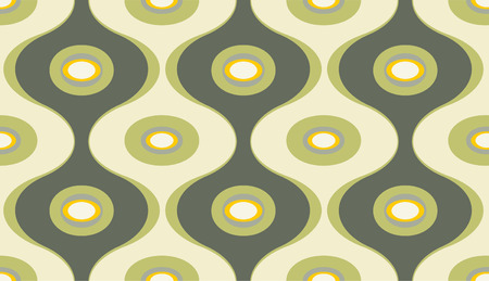 Vector illustration of elegant geometric retro motif wallpaper seamless Pattern Vector