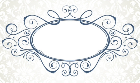 Vector illustration of ornamental original vector design element for titling frame Vector