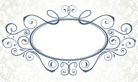 embellishments: Vector illustration of ornamental original vector design element for titling frame