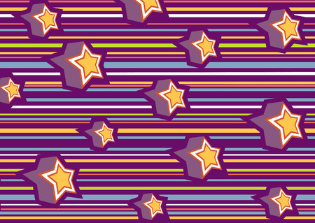 funky background: Vector illustration of funky background with cool stars Illustration