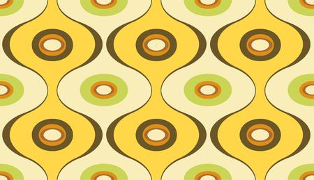 Vector illustration of elegant geometric retro motif wallpaper seamless Pattern Vector
