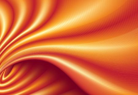 Vector illustration of orange funky futuristic background imitating smooth silk cloth Vector