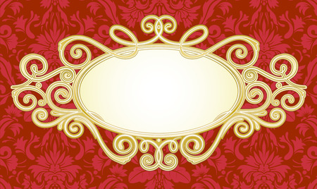 illustration of ornamental original design element for titling frame Stock Vector - 5973697
