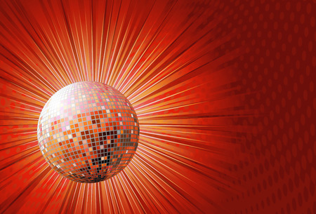 evening ball: illustration of red shiny abstract party design