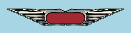 Ilustración de marco de grunge o Insignia en el estilo del parachoques