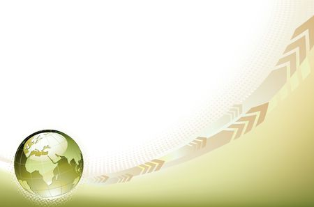 financial globe: illustration of abstract Background with Glossy Earth Globe