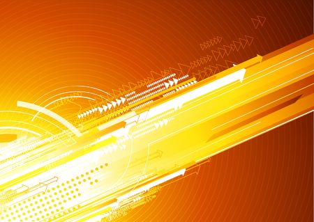 industry electronic: illustration of abstract orange hi-tech Background