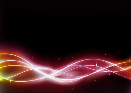 resembling: Vector illustration of  futuristic abstract background resembling motion blurred neon light curves