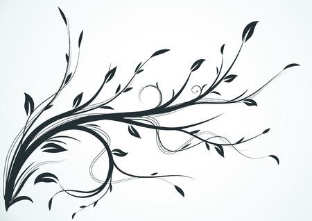 illustration of swirling flourishes decorative Floral Background Illustration