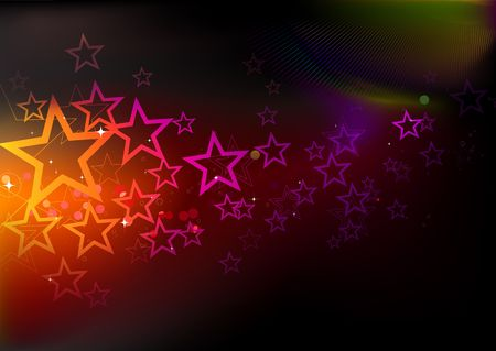 illustration of futuristic abstract glowing background illustration