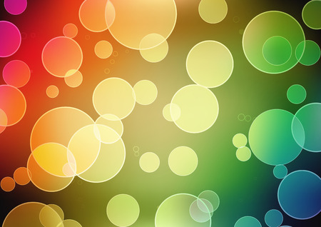 effects of lighting: Vector illustration of blurred neon disco light dots pattern