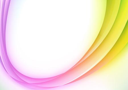 smooth curve design: Ilustraci�n vectorial de fondo abstracto con l�nea curva m�gica de color