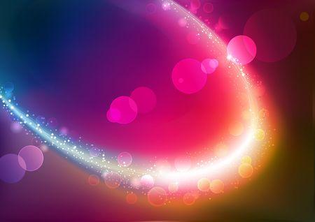 geschwungene linie: Illustration of red abstract Background with blurred Magic Neon-Licht Geschwungene Linie  Lizenzfreie Bilder