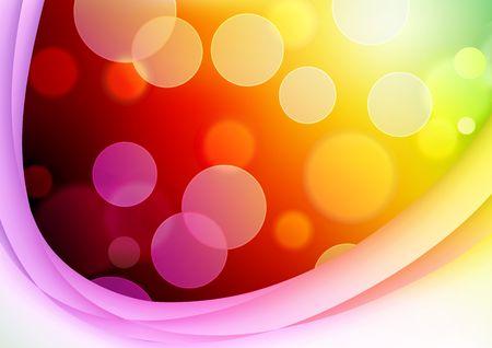geschwungene linie: Abbildung von red abstract Background with verschwommen Magic Neonlicht Geschwungene Linie