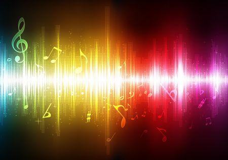 Abbildung der futuristischen abstrakte glühend Hintergrund Musik