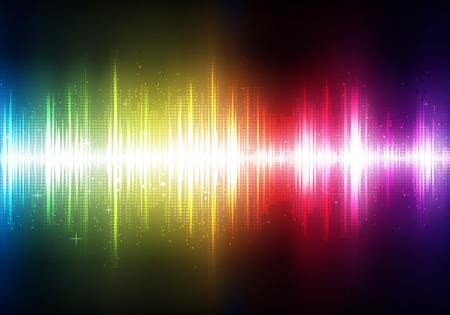 neon party: illustrazione del futuristico astratto incandescente partito sfondo