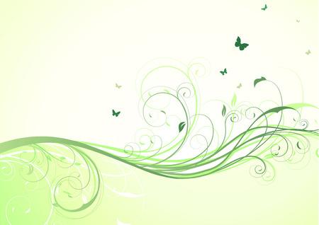 abbildung abstrakt grün hintergrund floral