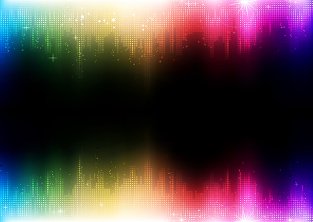 illustration of futuristic abstract glowing party background  Vector