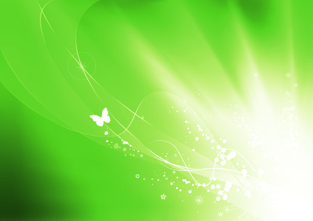 illustration of green summer abstract nature background  Stock Vector - 8462531