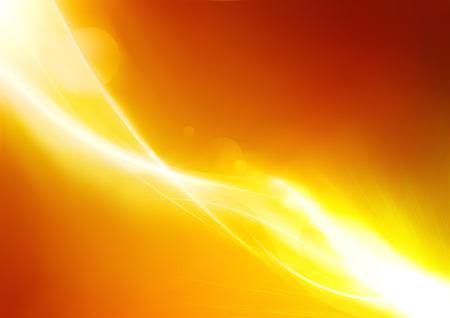 Illustration de vecteur de fond lumineux abstract orange futuriste
