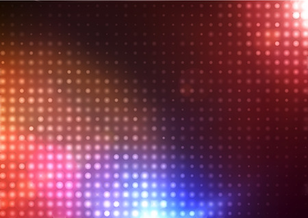 illustration of disco lights dots pattern on red background Vector