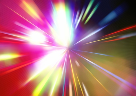 illustration of abstract background with blurred magic neon color light rays Stock Illustration - 8820174
