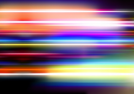 illustration of abstract background with blurred magic neon color lights Stock Illustration - 8820173