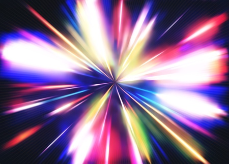 illustration of abstract background with blurred magic neon color light rays Stock Illustration - 8820177