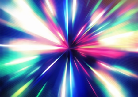 illustration of abstract background with blurred magic neon color light rays  Stock Illustration - 8820185