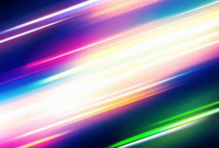 lighting effect: Vector illustration of abstract background with blurred magic neon color lights