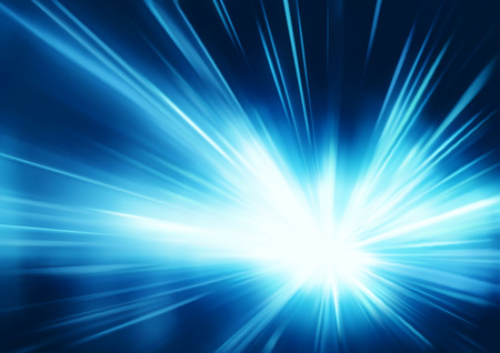 flash light: Vector illustration of abstract background with blurred magic neon blue light rays