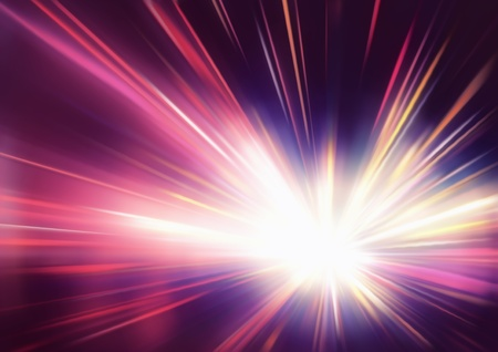 color reflection: illustration of abstract background with blurred magic neon red light rays  Stock Photo