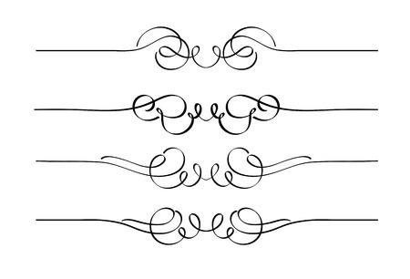 twirl: Vector de conjunto de reglas de p�gina de ornamentos decorativos de remolino