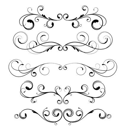 grecas:  conjunto de reglas de p�gina floral ornamentos decorativos
