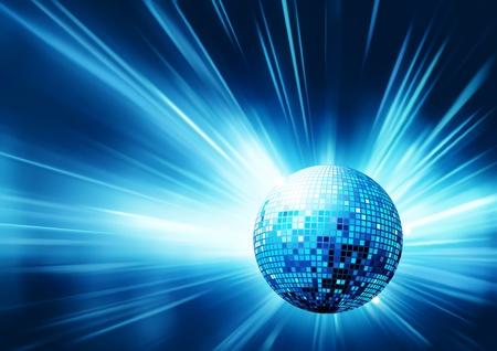 fiestas discoteca: Ilustración vectorial de diseño azul brillante partido abstracto  Vectores
