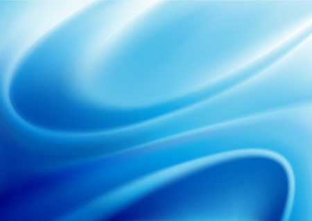 illustration of blue abstract background made of light splashes and curved lines