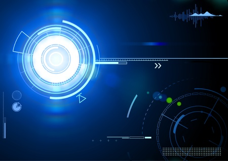 internet speed: Vector illustration of blue abstract techno background