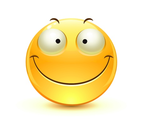 cool glossy Single Emoticon Vector