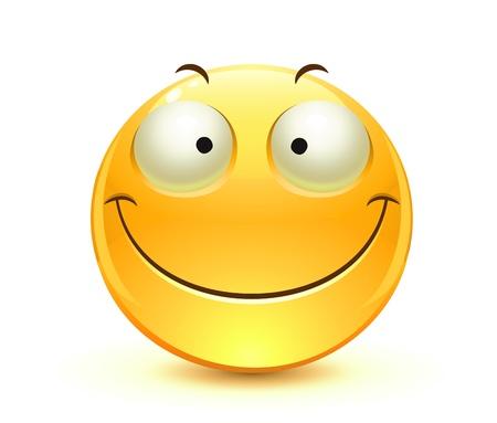 cara sonriente: Cool icono gestual solo brillante