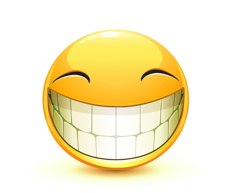 happy emoticon: cool glossy Single Emoticon