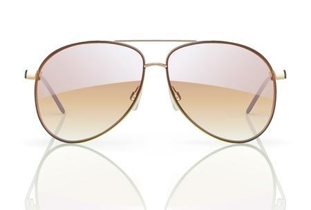 Vectorillustratie van stijlvolle vlieger zonnebril met reflectie