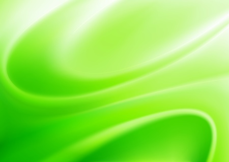 Vector illustration of green abstract background made of light splashes and curved lines Stock Vector - 9525302