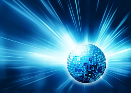 blue shiny abstract party design  photo