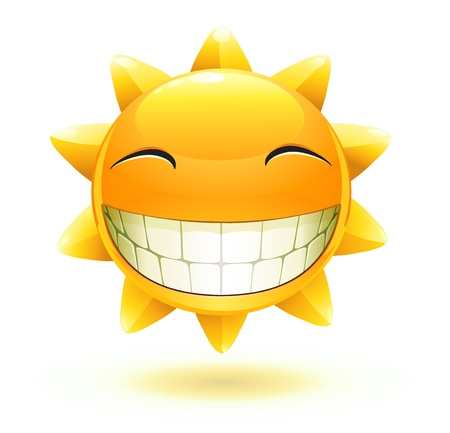 cool cartoon happy summer sun  Vector