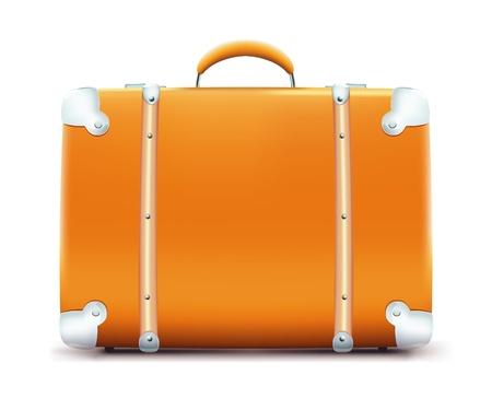 maleta: Ilustraci�n de maleta vintage aislada sobre fondo blanco