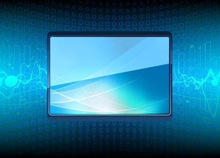 illustration of  modern Plasma TV screen  Vector