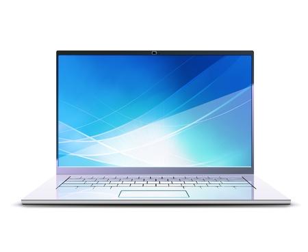 illustration of  modern laptop Vector
