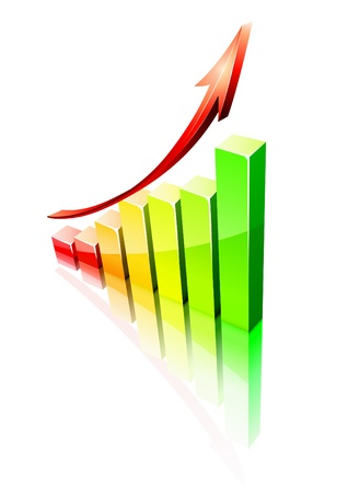 Vector illustration of shiny success graph Stock Vector - 9852551