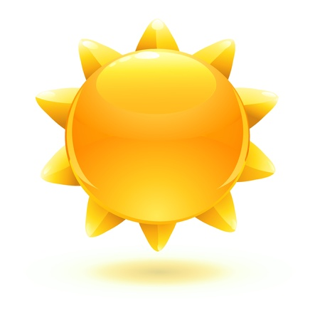 illustration of cool cartoon summer sun