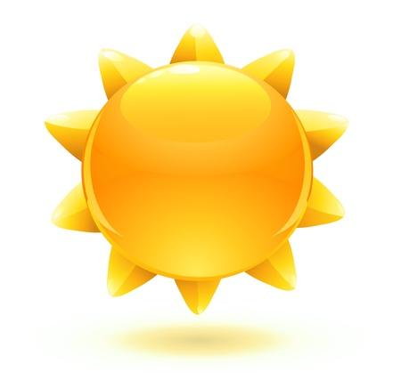 sol radiante: ilustración de dibujos animados fresco sol de verano Vectores